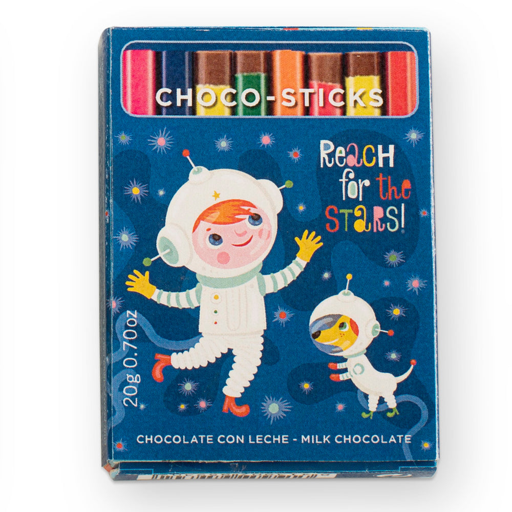 Simon Coll Milk Chocolate Sticks 20g Comic Style_Reach For the Stars!