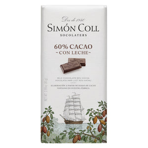 Simon Coll Chocolate 60% Cocoa & Milk 85g Bar_19th Century Sailboat wrapping