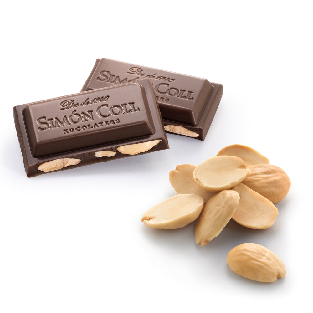 Simon Coll Chocolate 70% & almonds portioned unpacked
