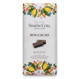 Simon Coll Chocolate 85% Cocoa dark chocolate 85g Bar_19th Century Sailboat wrapping