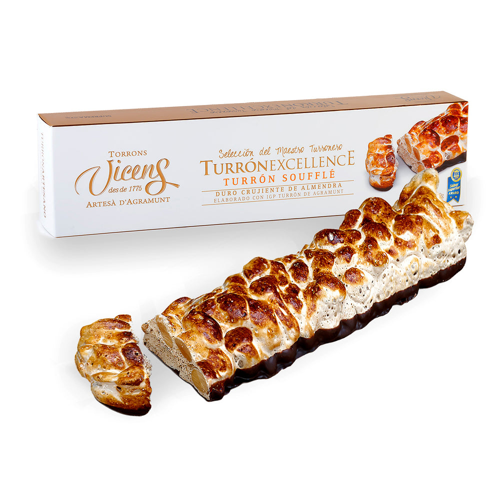 Hard Crunchy Almond Souffle Nougat 200 g. /  Excellence Collection