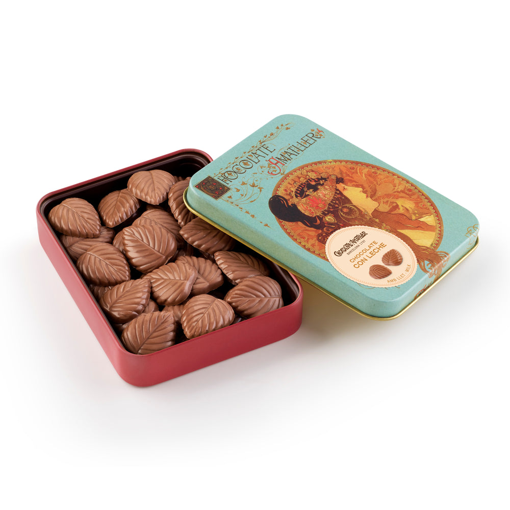 Leaves Milk Chocolate Tin 60g