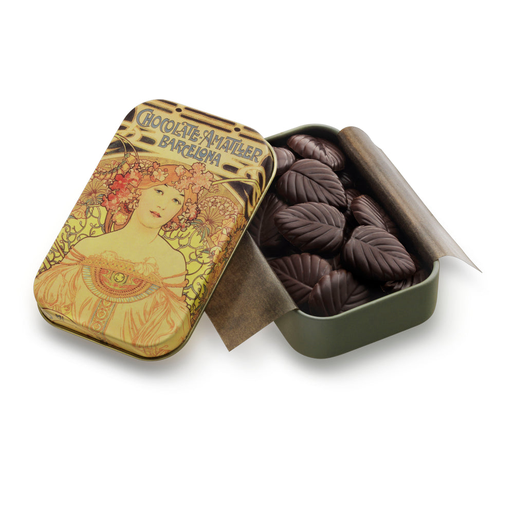 Chocolate Leaves 70% Cocoa Tin 30g