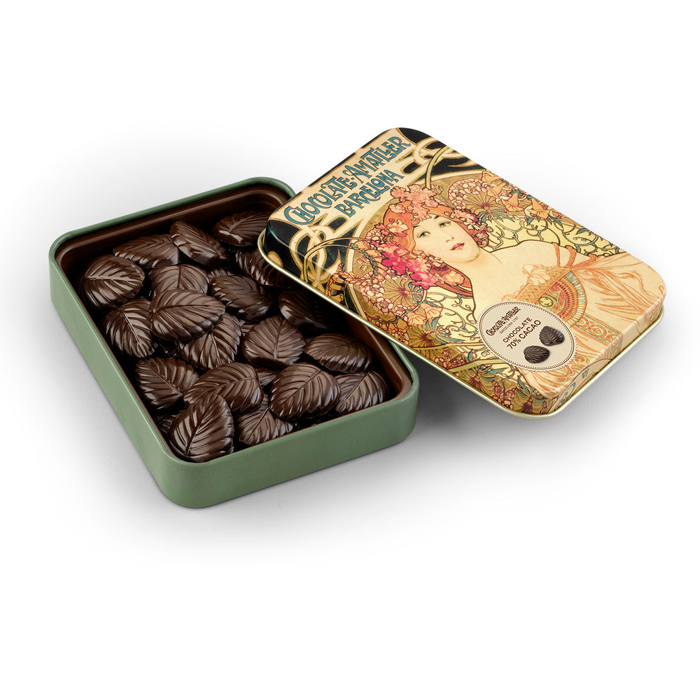 Chocolate Leaves 70% Cocoa Tin 60g