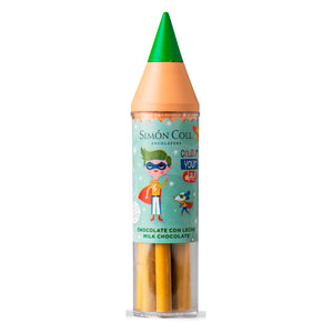 Simon Coll Milk Chocolate Super Colour Pencil 30g Green for kids