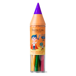 Simon Coll Milk Chocolate Super Colour Pencil 30g Purple for kids