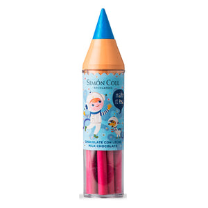 Simon Coll Milk Chocolate Super Colour Pencil 30g Blue for kids