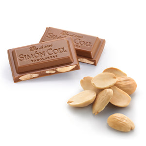 Simon Coll Milk Chocolate & Almonds portioned unpacked