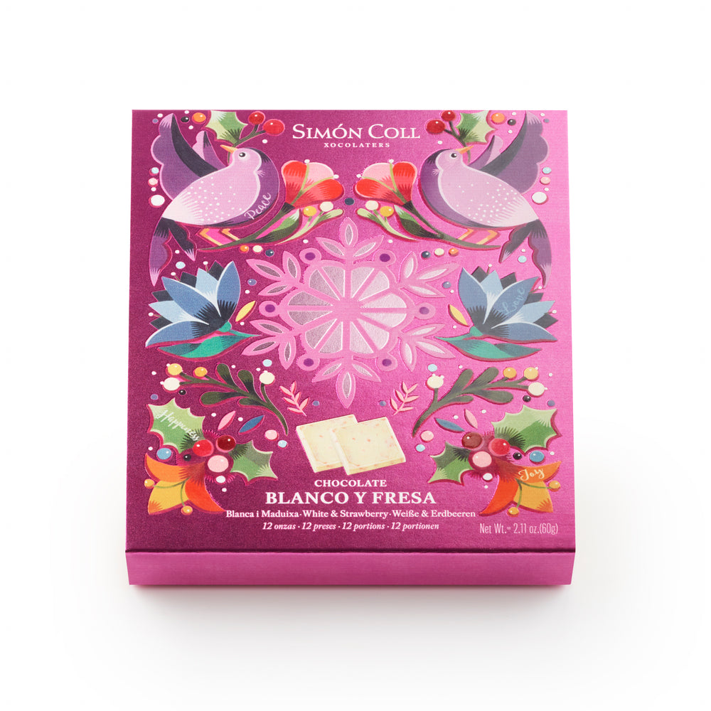Minichocolates White Choc & Strawberry 60g.