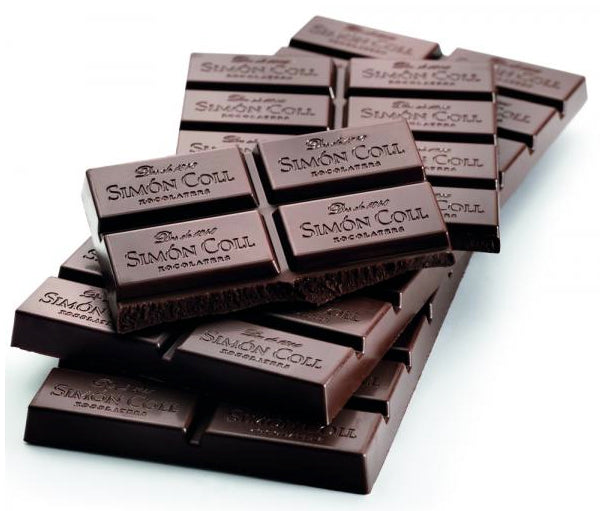 Simon Coll Chocolate 70% Cocoa dark chocolate 85g Bar_Tablet Pattern