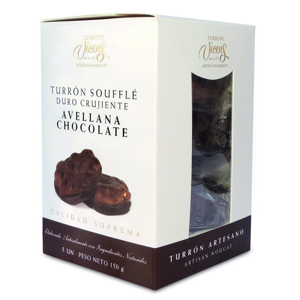 """Souffle""  Chocolate Hazelnut Nougat / Box 5X30g."