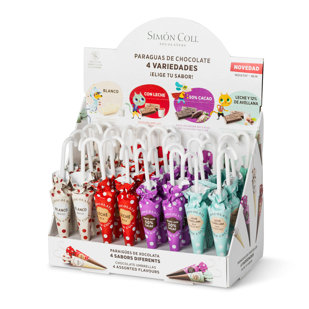 Simon Coll Chocolate Umbrellas 10g Pack of 32 Units
