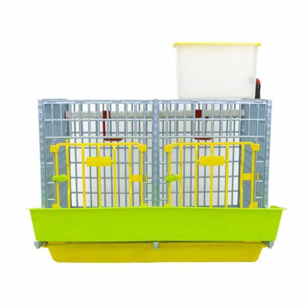 "2 Section Front View of Grow Out Pen 15"" for Chicks Hatching Time Cimuka"