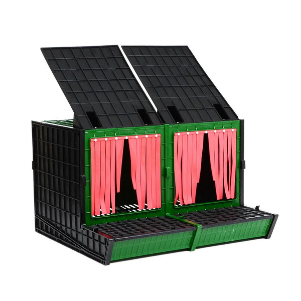 Nesting Box for Chickens with 2 Compartments