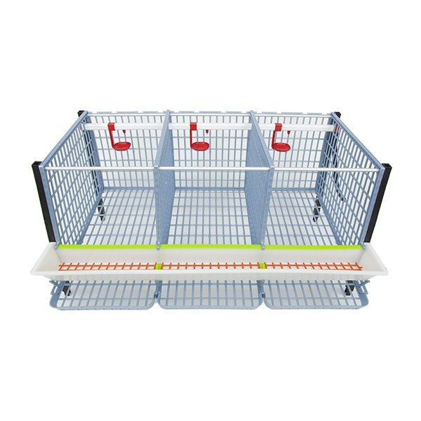 "Chicken Cage - 2 Layer H: 15"" Inside View - Hatching Time"