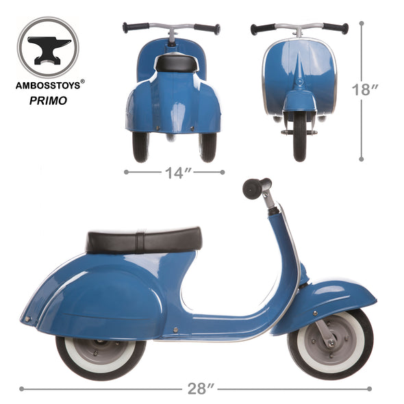 PRIMO Ride On Kids Toy Classic (Blue)