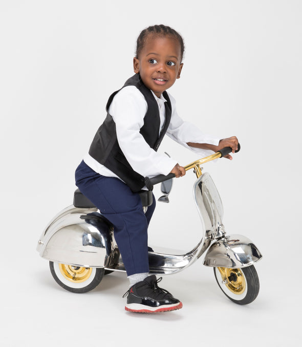 PRIMO Ride On Kids Toy DELUXE Stainless Steel (Limited Edition) - Ambosstoys
