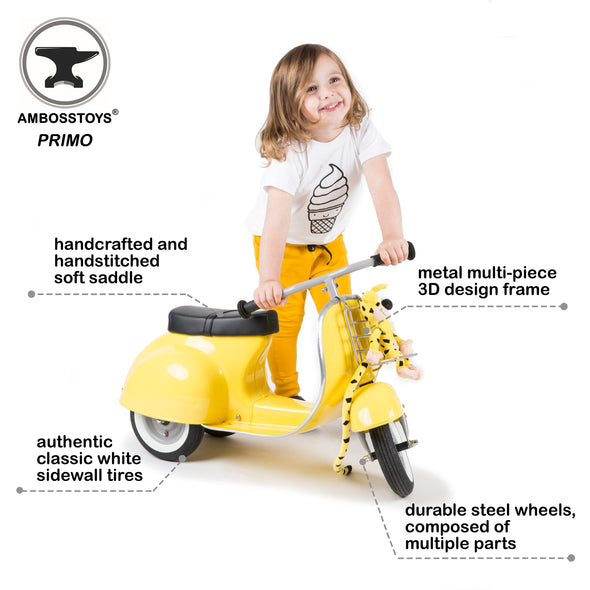 PRIMO Ride On Kids Toy Classic (Yellow) - Ambosstoys