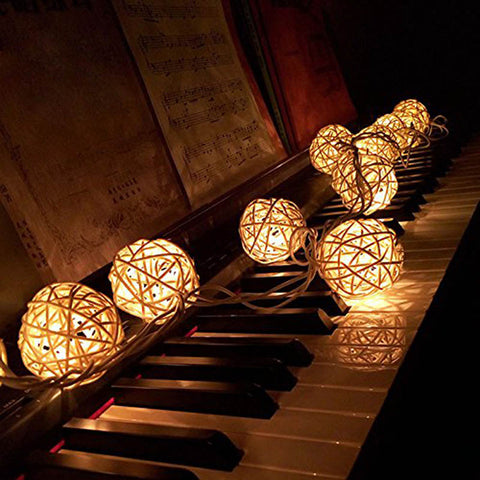 LED Rattan Balls Decorative Lights