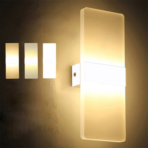 Long LED Acrylic Wall Lamp