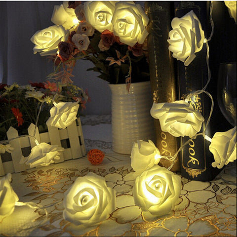 LED Rose Flower String Light