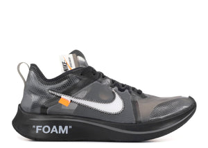 094e3cb5bb2 Nike Zoom Fly Off-White Black Silver Size 10