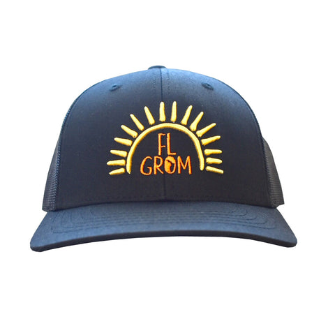 FL Grom Youth Trucker Hat - Black/Yellow/Orange
