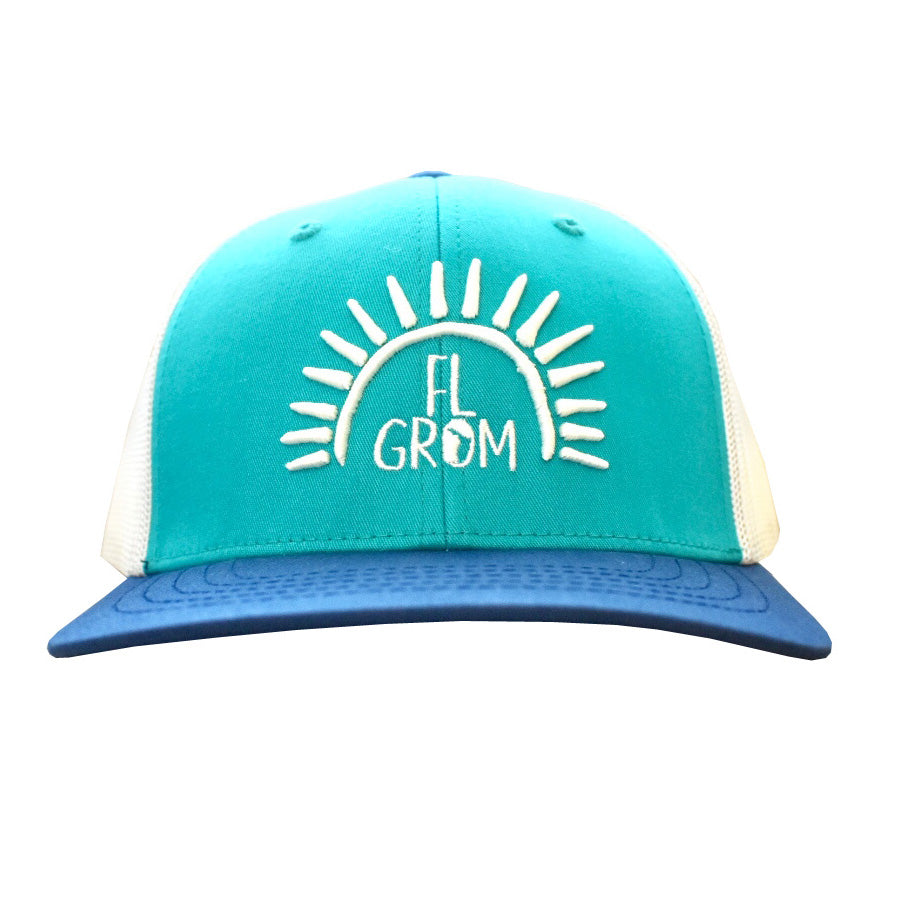 FL Grom Youth Trucker Hat - Blue/Teal/White