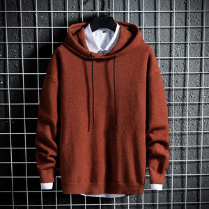 Mens Casual Hooded Pullover