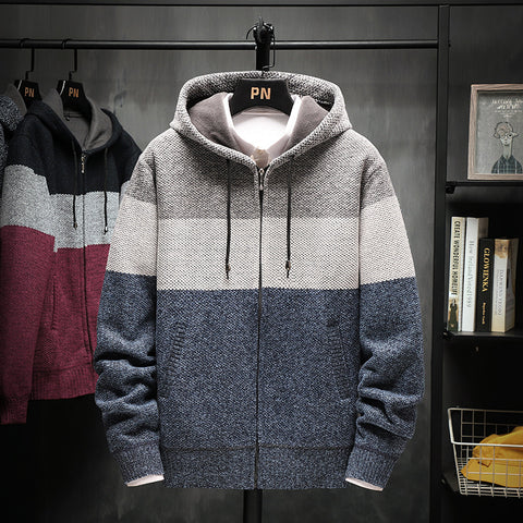 Mens Hooded Cardigan Coat