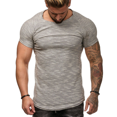 Men's Fashion  Solid Color Short Sleeve T-Shirt