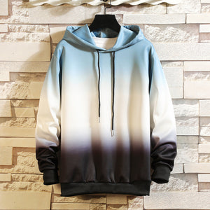 Mens Hooded Gradient Sweater Top