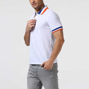 Men's Casual Color Block Polo Shirt