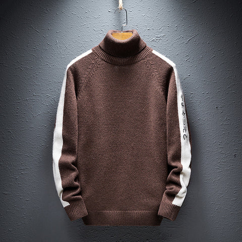 Mens Turtleneck Sweater Casual Bottoming Sweater