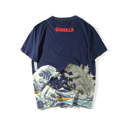 Wave And Godzilla Premium