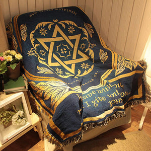 Hexagram Blanket Rugs Throw Israel Flag Afghans Wall Hangings Tapestry Rabbi Judaism