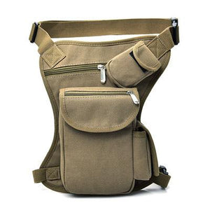 Men Drop Leg Thigh Bag Panel Utility Pouch Waist Bag