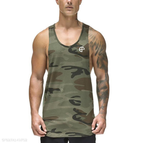 Casual Loose Bodybuilding Vest  Short T-Shirts