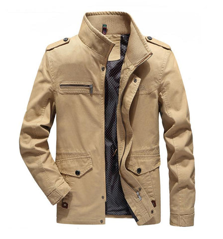 Cotton Stand Collar Tooling Jacket 3 Colors