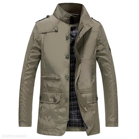 Mens Windproof Casual Jacket