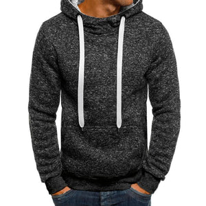 Basic Men's Solid Color Hoodie