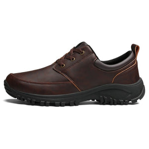 Men Microfiber Leather Outdoor Wearable Work Shoes