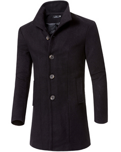 Basic Long Wool Coat 5 Colors