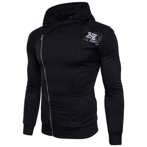Never Give Up Oblique Zipper Hoodie