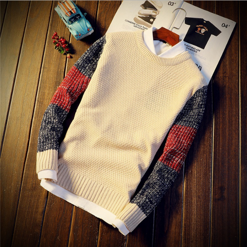 Gradient Splice Slim Warm Sweater
