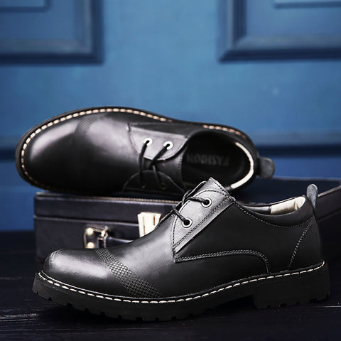 Men Vintage Genuine Leather Casual Shoes