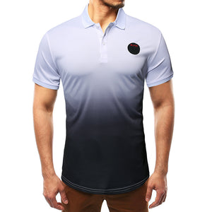 Men's Fashion Gradient Short Sleeve POLOT Shirt