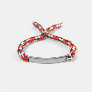Alloy Super Fiber Braided Hand Strap Bracelet