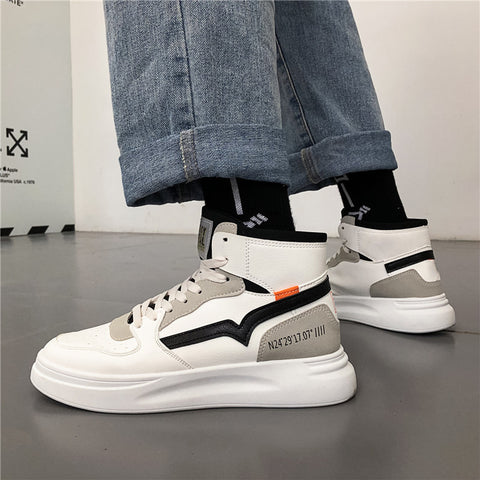 Men Hip-hop High-top Casual Outdoor Sneakers