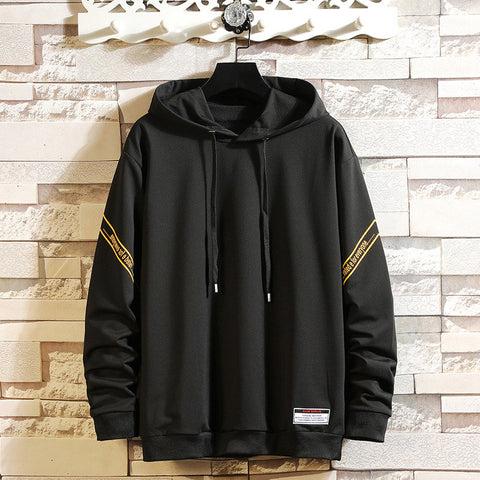 Mens Sweater Hooded Casual Loose Sports Jacket